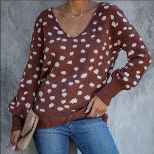 Vici Bambi Spotted Women Sweater